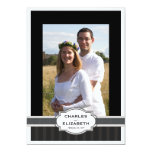 Silver Chic Photo 25th Wedding Anniversary Party Personalized Announcement