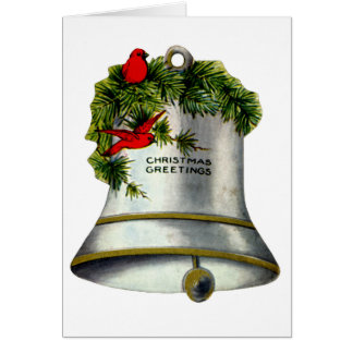 Silver Christmas Bell Card
