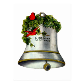 Silver Christmas Bell Postcards