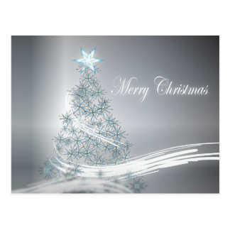 Silver Christmas Corporate Greeting Post Card