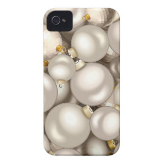 silver christmas ornaments Case-Mate iPhone 4 cases