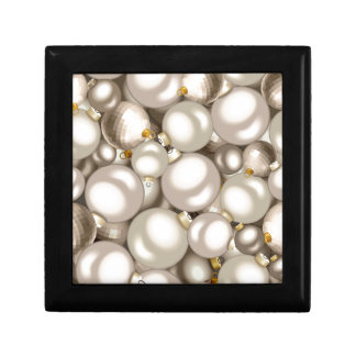 silver christmas ornaments gift box