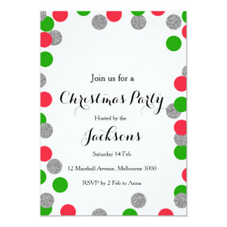 Silver Christmas Party Invitation
