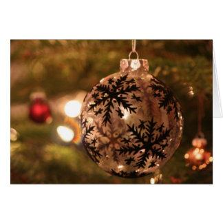 Silver Christmas Snowflake Ornament Christmas Card