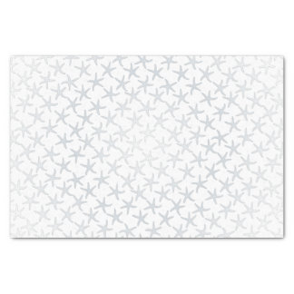 Silver Christmas Stars Pattern Tissue Paper