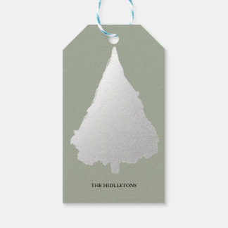 Silver Christmas Tree Modern Holiday