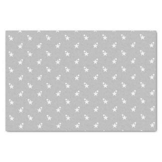 Silver Christmas white stars Tissue Paper