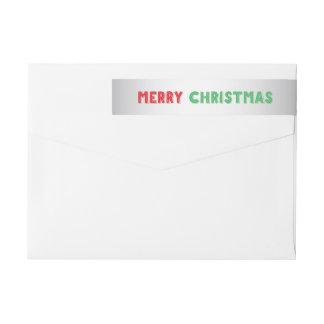 Silver Christmas Wraparound Return Address Labels Wraparound Return Address Label