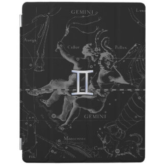 Silver Chrome like Gemini Zodiac Sign on Hevelius iPad Cover