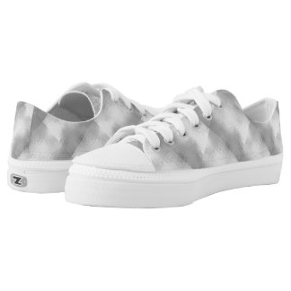 Silver Chrome Metallic Look Low Top Sneaker
