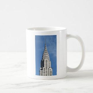 Silver Chrysler Building Basic White Mug