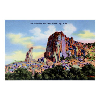 Silver City New Mexico The Kneeling Nun Poster