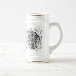 """Silver Claddagh Cross"" Beer Stein"