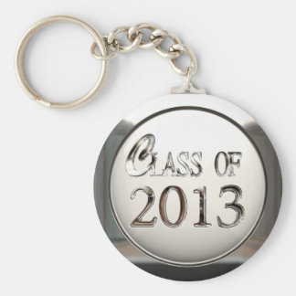 Silver Class Of 2013 Keychain