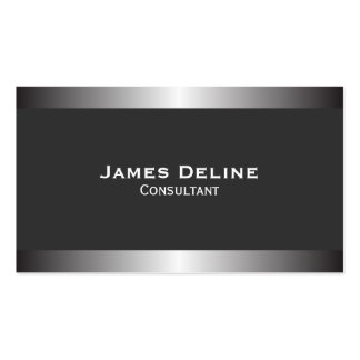 Silver Classic Elegant Business Card Template