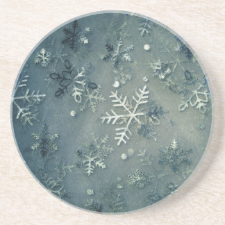Silver cloth snowflakes coaster