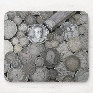 silver coin mousepad