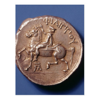 Silver coin of Philip II of Macedon Postcard