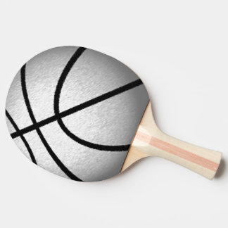 Silver Colored Basketball Ping Pong Paddle
