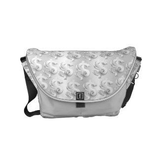 $ Silver $ Commuter Bag