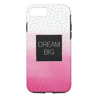 Silver Confetti Pink Ombre Watercolor iPhone 8/7 Case