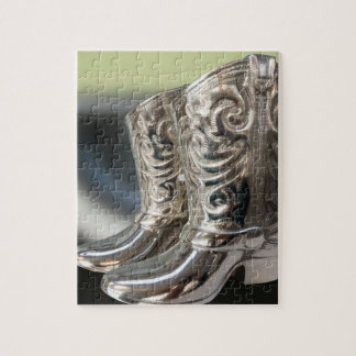 Silver Cowboy boots Jigsaw Puzzle