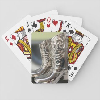 Silver Cowboy boots Playing Cards