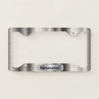 Silver Crackle Pattern Design Licence Plate Frame