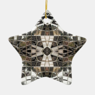 Silver Cross Mosaic Star Ornament
