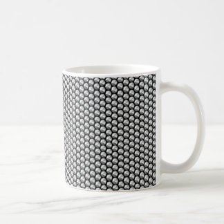 Silver crystal sequins coffee mug