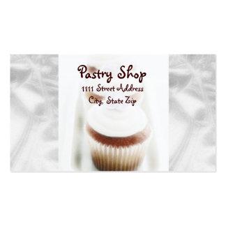 Silver Cupcake Swirl Business Cards