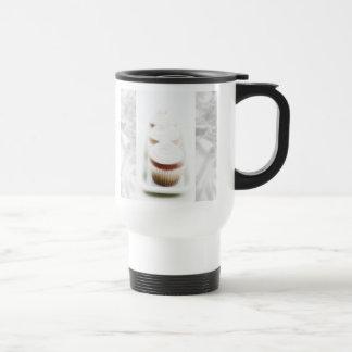 Silver Cupcake Swirl Travel Mug