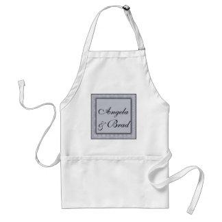 Silver damask background pattern standard apron