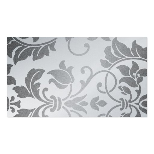 Silver Damask Business Card