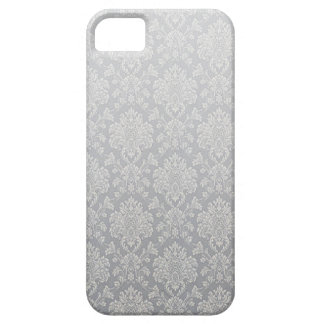 Silver Damask Pattern iPhone 5 Case