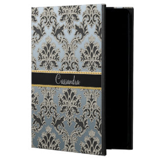 Silver Damask Personalized iPad Air 2 Case