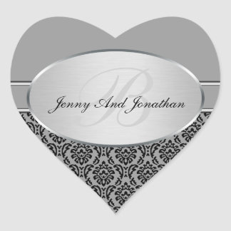 Silver Damask Stickers
