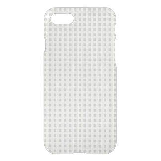 Silver Dandelion Gingham Check Plaid Pattern iPhone 8/7 Case