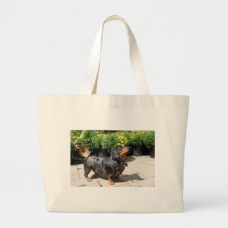 Silver Dapple Dachshund Buddy 2 Large Tote Bag