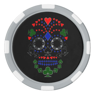 Silver Day of the Dead Poker Skull Chips