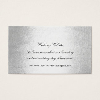 Silver Delicate Script Minimalism Wedding Website
