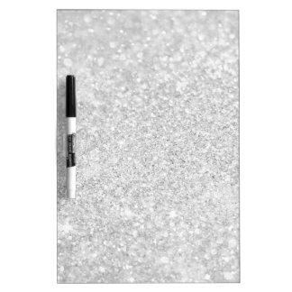 Silver Diamond Style Dry Erase Board