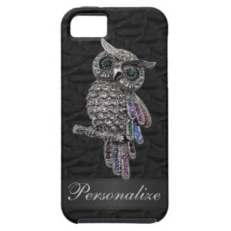 Silver & Digital Jewels Owl IMAGE Personalized iPhone 5 Case