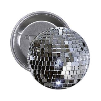 Silver Disco Ball Pinback Button