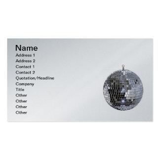 Silver Disco Ball Business Card Template