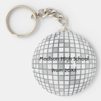 Silver Disco Ball Prom Formal Favor Key Chains