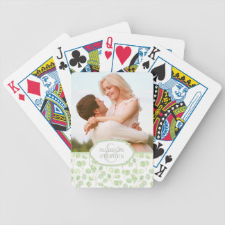 Silver Dollar Eucalyptus & Branches - Wedding Phot Bicycle Playing Cards