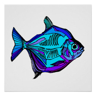 Silver Dollar Fish Posters