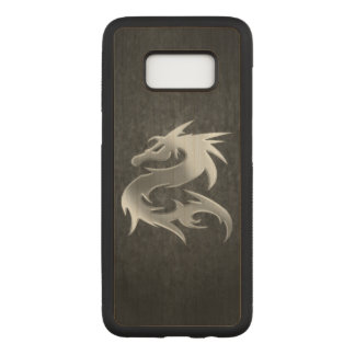 Silver Dragon Carved Samsung Galaxy S8 Case