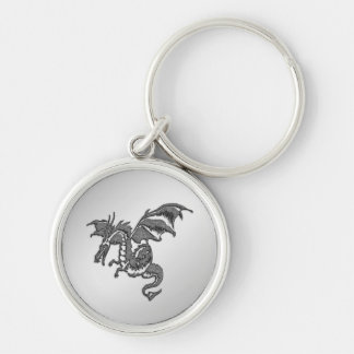 Silver Dragon Key Ring
